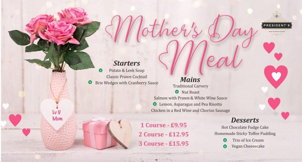 Mothers Day Menu - President's Restaurant Neath