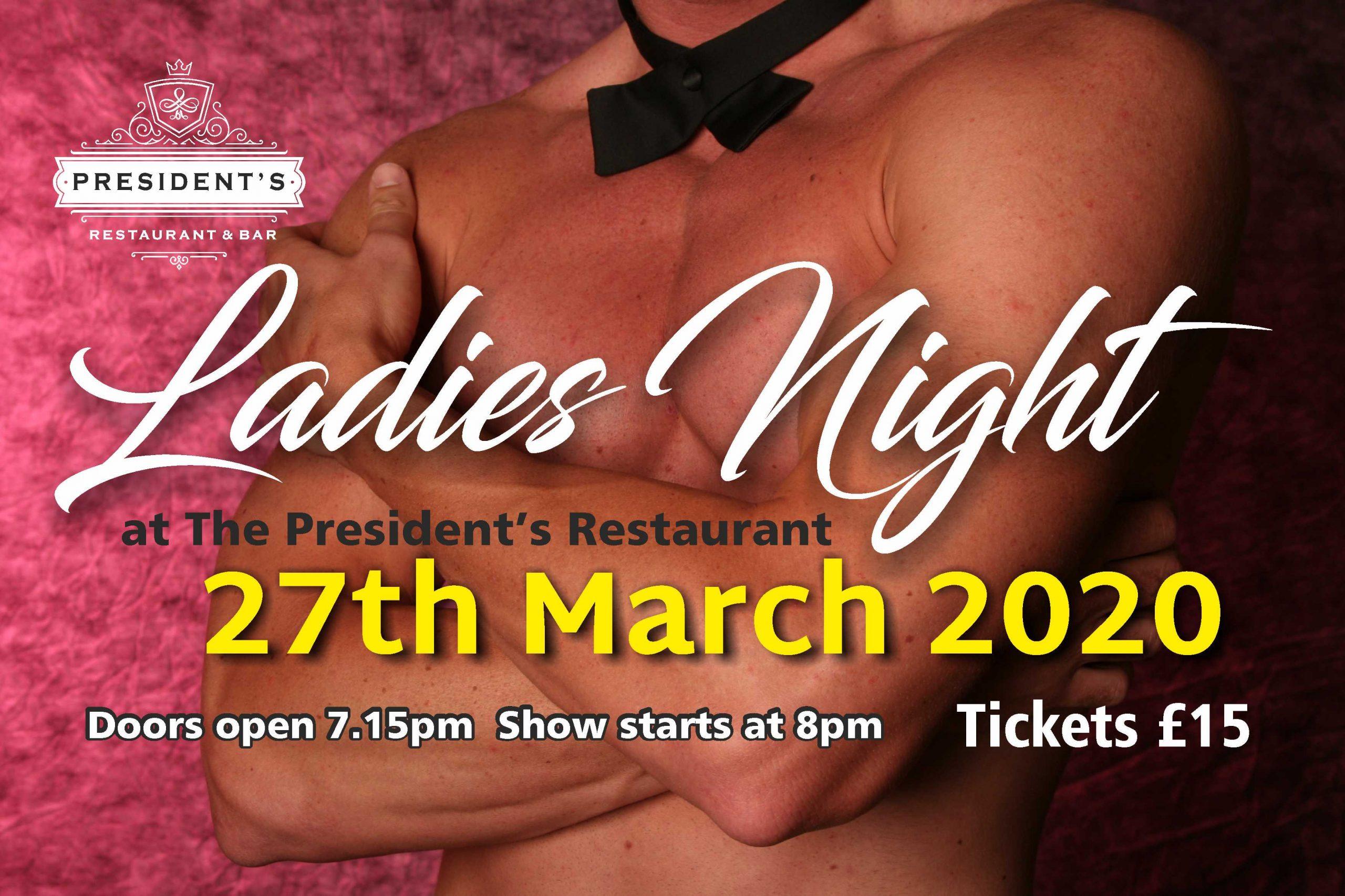 Ladies Night Presidents Restaurant Neath